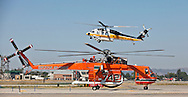 Erickson Air-Crane helitanker ..Media day for LA county's firefighting aircraft at Van Nuys Airport. .2 Cl-425 Supercoopers on lease from Quebec. 1 Sikorsky S-70 Firehawk, and 1 Erickson Air-Crane helitanker were on display. .Fire season is expected to begin soon in LA with the arrival of the Santa Ana winds later this week.