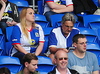 Blackburn Rovers fans enjoy the pre-match buildup<br /> <br /> Photographer Kevin Barnes/CameraSport<br /> <br /> Football - The EFL Sky Bet Championship - Cardiff City v Blackburn Rovers - Wednesday 17th August 2016 - Cardiff City Stadium - Cardiff<br /> <br /> World Copyright © 2016 CameraSport. All rights reserved. 43 Linden Ave. Countesthorpe. Leicester. England. LE8 5PG - Tel: +44 (0) 116 277 4147 - admin@camerasport.com - www.camerasport.com