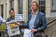 Anne Rolfes of the Louisiana Bucket Brigade talking about the pipeline explosion at a press conference in front of Louisiana Department of Environmental Quality's office.