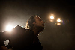 © Licensed to London News Pictures . 14/02/2013 . Manchester , UK . Peter Jobson on stage . I Am Kloot perform at the Ritz in Manchester . Photo credit : Joel Goodman/LNP