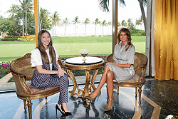 March 28, 2019 - Palm Beach, Florida, U.S. - March 28, 2019 - Palm Beach, Florida, U.S. - First Lady Melania Trump with Fabiana Rosales de Guaido, the First Lady of the Bolivarian Republic of Venezuela Thursday, March 28, 2019, at Mar-a-Lago in Palm Beach. (Credit Image: ? White House via ZUMA Wire/ZUMAPRESS.com) (Credit Image: ? White House via ZUMA Wire/ZUMAPRESS.com)