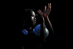 29th October 2017 - Sky Bet EFL Championship - Birmingham City v Aston Villa - A shaft of light illuminates Joshua Onomah of Villa as he applauds the support - Photo: Simon Stacpoole / Offside.