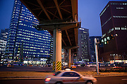 Seoul/South Korea, Republic Korea, KOR, 27.11.2009: Streetscene close to the Seoul Station subway stop in the Korean capital.