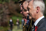 British Ambassador to Japan, Tim Hitchens (right) takes part in a c eremony for Remembrance Sunday at the Commonwealth War Graves Cemetery in Hodogaya, Yokohama, Japan. Sunday November 13th 2016. Each year representatives of the Commonwealth nations, along with American and other European nations that lost servicemen fighting the Japanese in World War 2, hold a multi-faith service of remembrance at this cemetery. This is the only cemetery for war dead in japan that is managed by the Commonwealth War Graves Commission.