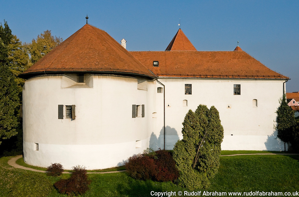 The castle (Dvor) in Varazdin, refortified during the 17th century, northern Croatia. Varazdin was the Croatian capital between 1756 and 1776