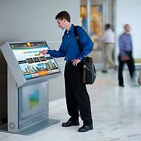 Envision Charlotte Touch Screen Kiosk Display, Verizon / Duke Energy