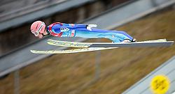 31.12.2015, Olympiaschanze, Garmisch Partenkirchen, GER, FIS Weltcup Ski Sprung, Vierschanzentournee, Qualifikation, im Bild Stefan Kraft (AUT) // Stefan Kraft of Austria during his Qualification Jump for the Four Hills Tournament of FIS Ski Jumping World Cup at the Olympiaschanze, Garmisch Partenkirchen, Germany on 2015/12/31. EXPA Pictures © 2015, PhotoCredit: EXPA/ JFK