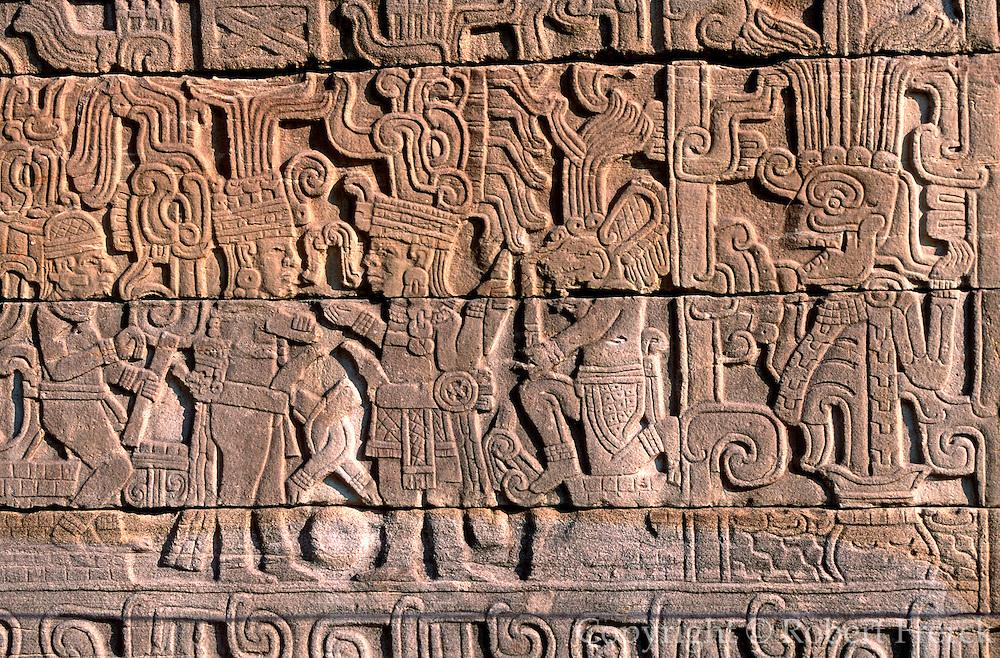 MEXICO, VERACRUZ, EL TAJIN relief of ballplayers and coyote figure