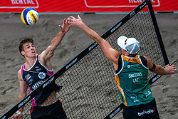 Tom van Walle BEL in action during the first day of the beach volleyball event King of the Court at Jaarbeursplein on September 9, 2020 in Utrecht.