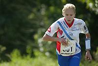 Orientering, 21. juni 2002. NM sprint. Kaisa Salminen, Halden.
