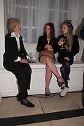 JOAN HICKS;  LARA SKEET; OLYMPIA CAMPBELL;, Cartier Tank Anglaise launch. Kensington Palace Orangery, London.  19 April 2012.