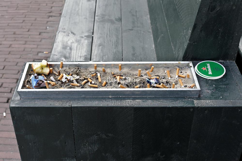 large ashtray in bench armrest Amsterdam Holland