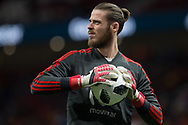 David De Gea of Spain warms up before the International friendly game football match between Spain and Argentina on march 27, 2018 at Wanda Metropolitano Stadium in Madrid, Spain - Photo Rudy / Spain ProSportsImages / DPPI / ProSportsImages / DPPI