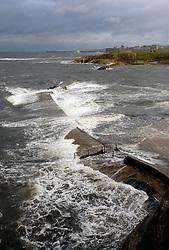 Rough sea; Tynemouth; NE England