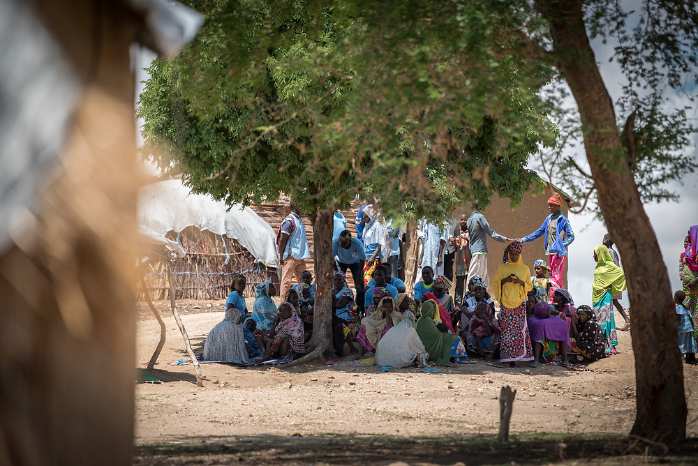 31 May 2019, Mokolo, Cameroon: One of 20 sites for Internally Displaced People in the Far North region of Cameroon, Zamay currently hosts 4,102 IDPs from the border area between Nigeria and Cameroon. Fleeing the atrocities of Boko Haram, and cross-border fighting between Boko Haram and Cameroonian coalition forces, the IDPs have settled alongside the host community of 32,000 people in Zamay.