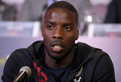 Lawrence Okolie during a press conference at Sky Sports Studios, Isleworth.