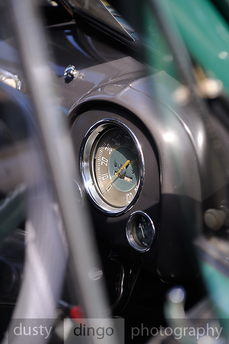 Holden FJ speedo. 2011 Classic Car Show, Whiteman Park, Perth, Western Australia. March 20, 2011