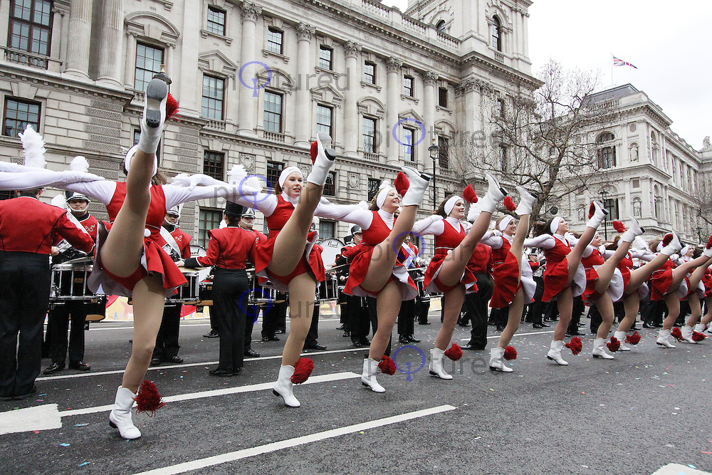 LONDON - JANUARY 01:  London's New Year's Day Parade 2012 in Whitehall, London, UK on January 01, 2012. (Photo by Richard Goldschmidt)