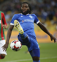 August 24, 2017 - Dynamo Dieumerci Mbokani in action during the Europa League second play-off soccer match between FC Dynamo Kyiv and FC Maritimo, at the Olimpiyskyi stadium in Kyiv, Ukraine, August 24, 2017. (Credit Image: © Anatolii Stepanov via ZUMA Wire)