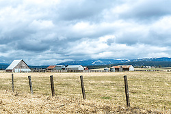 A cattle ranch in Cascade Idaho.  This high valley of the Payette River has a bunch of these properties with the cool old barns of yesteryear.
