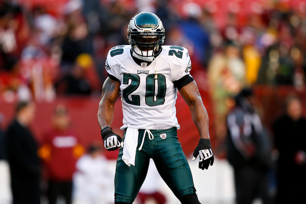 21 Dec 2008: Philadelphia Eagles safety Brian Dawkins #20 before the game against the Washington Redskins on December 21st, 2008. The Redskins beat the Eagles 10-3 at FedEx Field in Landover, Maryland. (Photo by Brian Garfinkel)