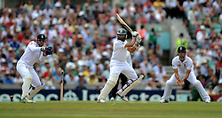 South Africa's Hashim Amla in batting action against England.
