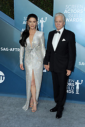 Catherine Zeta-Jones and Michael Douglas at the 26th Annual Screen Actors Guild Awards held at the Shrine Auditorium in Los Angeles, USA on January 19, 2020.