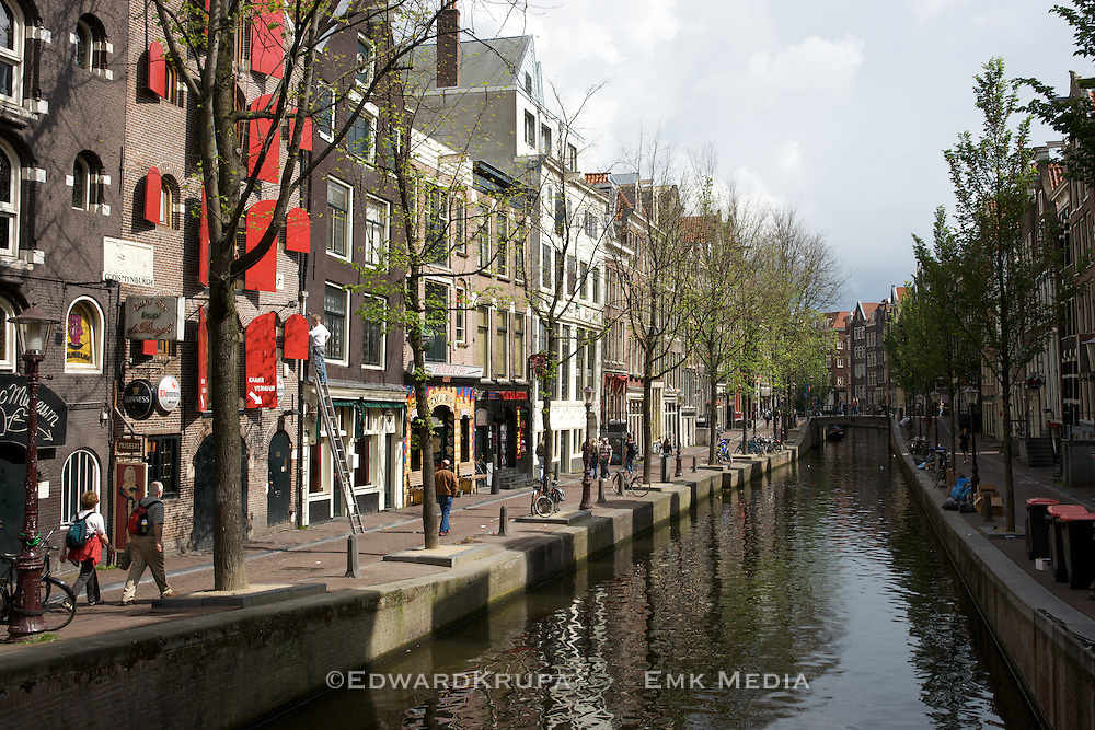 One of the canals of Amsterdam.