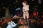 Moscow, Russia, 16/02/1995..The newly opened Dolls striptease club and topless bar.