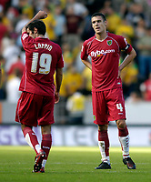Photo: Jed Wee/Sportsbeat Images.<br /> Hull City v Norwich City. Coca Cola Championship. 25/08/2007.<br /> <br /> Norwich's Jason Shackell (R) and Simon Lappin show their disappointment at the final whistle.