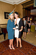 Mary Lee who was one of the Judges  and runner up  Carol Rooney from Renmore Galway at the Hotel Meyrick Most Stylish Lady event on ladies day of The Galway Races. Photo:Andrew Downes