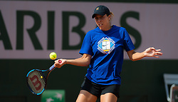 May 21, 2019 - Paris, FRANCE - Madison Keys of the United States practices ahead of the 2019 Roland Garros Grand Slam tennis tournament (Credit Image: © AFP7 via ZUMA Wire)