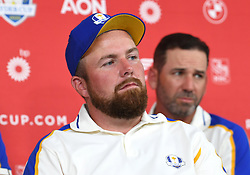 Team Europe's Shane Lowry during a press conference after defeat to Team USA at the end of day three of the 43rd Ryder Cup at Whistling Straits, Wisconsin. Picture date: Sunday September 26, 2021.