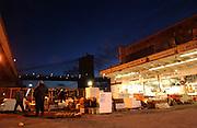 Fishmongers at the Fulton Fish Market in Manhattan, NY. 1/21/2005