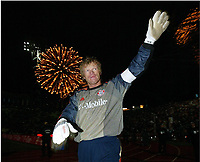 Fotball, 13. desember 2003, Jubel Oliver Kahn<br /> Bundesliga FC Bayern München - VfB Stuttgart