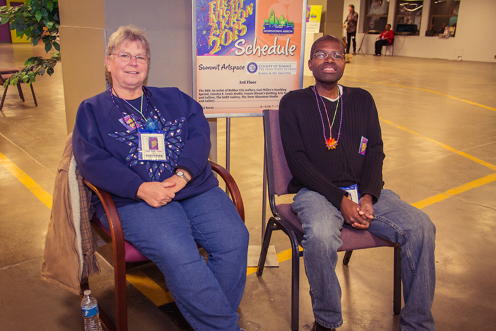 Volunteers at First Night Akron 2015