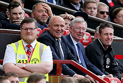 Manchester United 2008 XI manager Sir Alex Ferguson (centre) with Mike Phelan (left) during Michael Carrick's Testimonial match at Old Trafford, Manchester.
