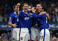 Photo: Ashley Pickering.<br /> Ipswich Town v Coventry City. Coca Cola Championship. 22/09/2007.<br /> Ipswich celebrates their 4th goal and Pablo Counago's second