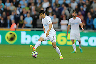 Ki Sung-Yueng of Swansea city in action. Premier league match, Swansea city v Manchester city at the Liberty Stadium in Swansea, South Wales on Saturday 24th September 2016.<br /> pic by Andrew Orchard, Andrew Orchard sports photography.