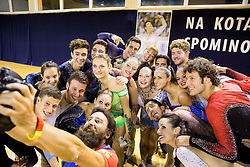 Lucija Mlinaric and her friends making selfie during special artistic roller skating event when Lucija Mlinaric of Slovenia, World and European Champion ended her successful sports career, on November 7, 2015 in Rence, Slovenia. Photo by Vid Ponikvar / Sportida