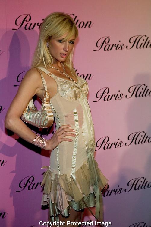 """Paris Hilton..Launch of """"Paris Hilton"""" fragrance..5900 Wilshire Blvd..LA, CA US.12/3/04."""