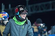 Roz Groenewoud during Women's Ski Superpipe Practice during 2015 X Games Aspen at Buttermilk Mountain in Aspen, CO. ©Brett Wilhelm/ESPN