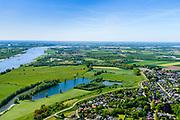 Nederland, Gelderland,  West Betuwe, 13-05-2019;  Waal en Waalbandijk  bij Ophemert. <br /> Waal and Waalbandijk near Ophemert.<br /> aerial photo (additional fee required);<br /> luchtfoto (toeslag op standard tarieven);<br /> copyright foto/photo Siebe Swart