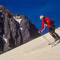 Michael Graber skis Little Mount Morrison near Mammoth Lakes, CA.