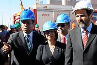 20110704: BRASILIA, BRAZIL - Brazilian Minister of Sports  Orlando Silva, National Security Secretary Regina Miki, and Governor Agnelo Queiroz visit to Mane Garrincha Stadium works during bomb squad exercises.<br /> PHOTO: CITYFILES