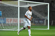 Swansea city's Wayne Routledge .Pre-season friendly match, Swansea city v Blackpool at the Liberty Stadium in Swansea, South Wales on Tuesday 7th August 2012. pic by Andrew Orchard, Andrew Orchard sports photography,