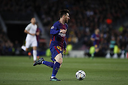 April 4, 2018 - Barcelona, Catalonia, Spain - April 4, 2018 - Barcelona, Spain - Uefa Champions League Quarter final first leg, FC Barcelona v AS Roma: Leo Messi of FC Barcelona run with the ball. (Credit Image: © Marc Dominguez via ZUMA Wire)