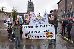 DPAC, Disabled People Against Cuts, rally & demo against Universal Credit, Norwich27 October 2018 UK