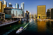 Dubai Marina is an elegant waterfront community with Riviera-style living on a canal that opens on the Persian Gulf. © Steve Raymer / National Geographic Creative