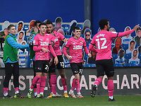 Football - 2020 / 20-21 Sky Bet Championship - Queens Park Rangers vs Derby County - Kiyan Prince Foundation Stadium<br /> <br /> Colin Kazim-Richards of Derby County congratulated after scoring the opening goal.<br /> <br /> COLORSPORT